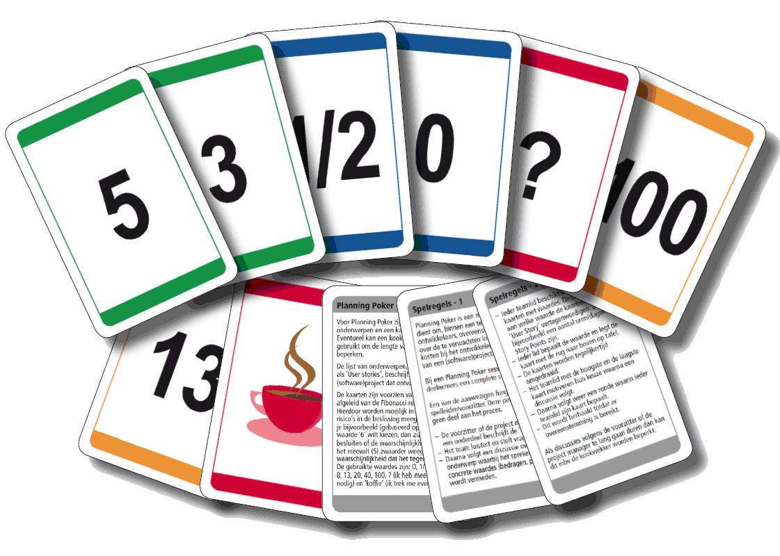 Cartas do Planning Poker