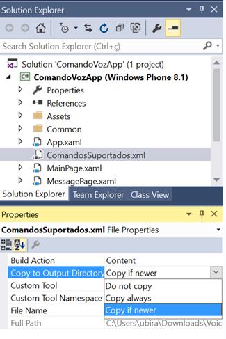 Configurando as propriedades do arquivo VCD