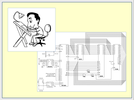 Exemplos de desenhista e desenho técnico