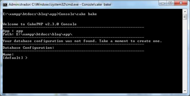Acessando o Bake pelo console
