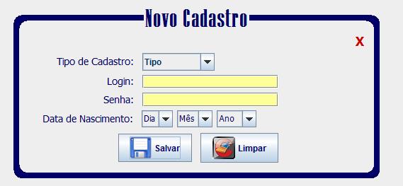 Exemplo do formulário a ser validado