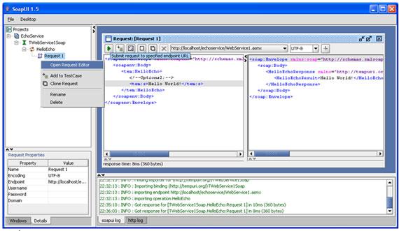 Importação das interfaces via um arquivo WSDL