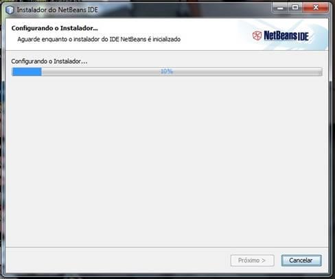 Configuração do instalador do netbeans