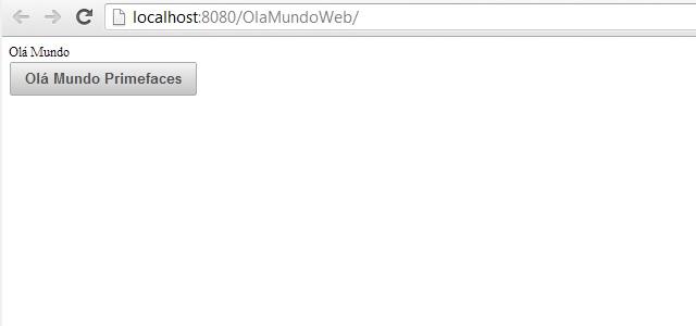 Página criada (index.xhtml)