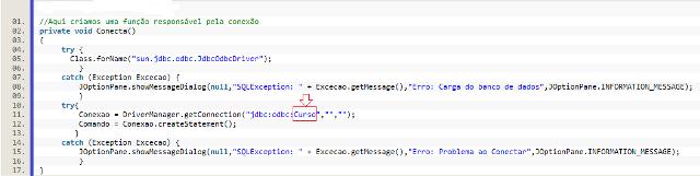 Método de Conexão Java x Access