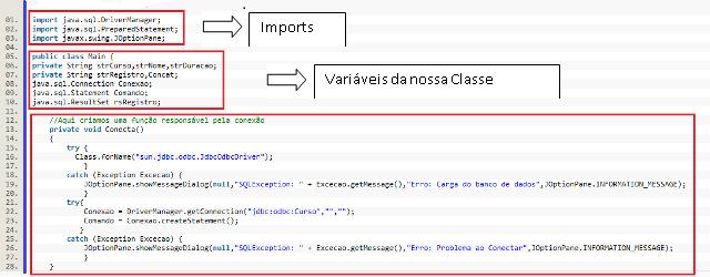 Colocando as funções na Classe Main – Passo 1