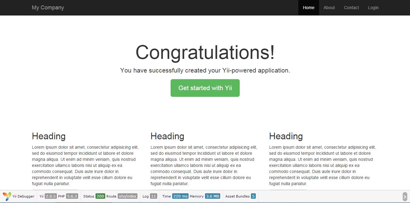 Primeiros passos com Yii Framework