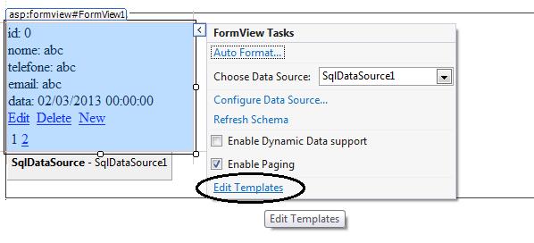 Opção para permitir a edição do template da FormView