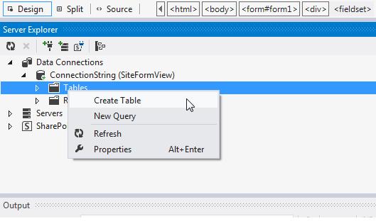 Criação da tabela Clientes