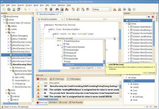 IDE Mono Develop