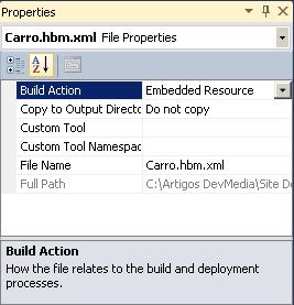 Arquivo XML configuração e nomenclatura padrão NHibernate