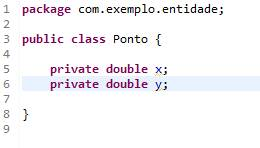Classe criada na IDE Eclipse