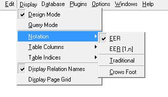 Configuração o tipo de notação a ser utilizada na modelagem