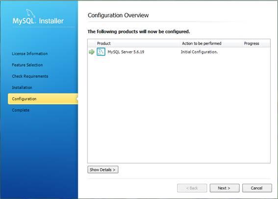 Configurando o MySQL Server