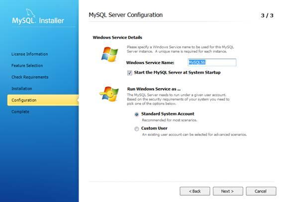 Configurando os últimos detalhes do MySQL Server