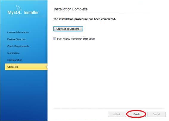 Finalizando a instalação do MySQL Server