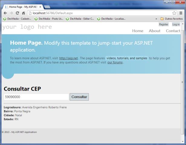 Consultando CEP existente
