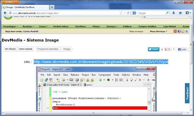 Imagem com URL para ser copiada