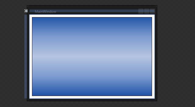 Aparência da janela com o retângulo