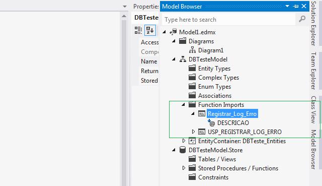 Model browser com função criada