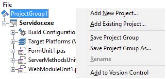 Criação do projeto cliente