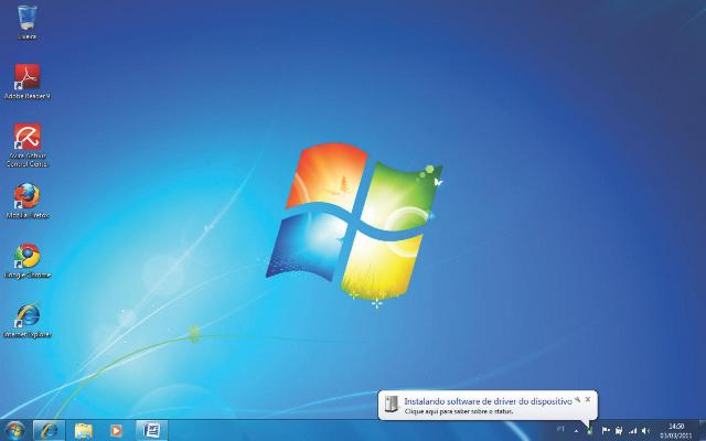 Tela principal Windows 7