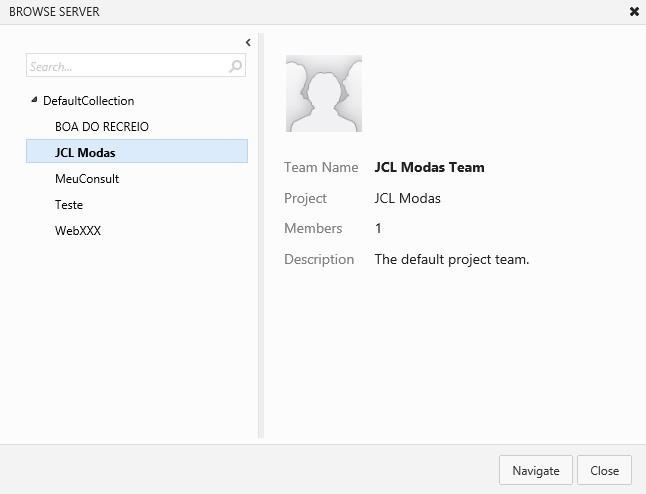 Lista de projetos já criados