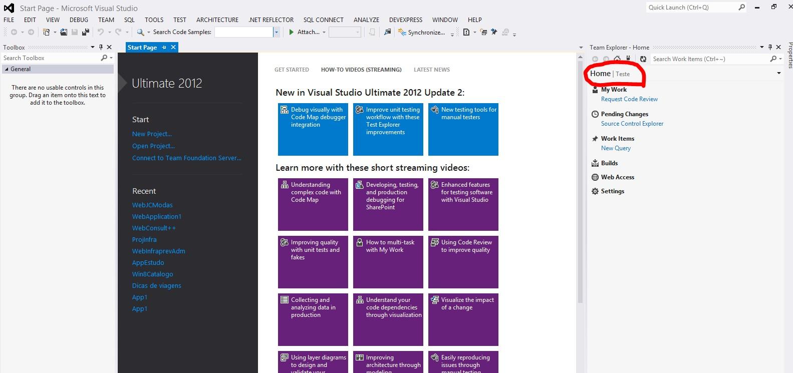 Integrando o projeto com o Visual Studio