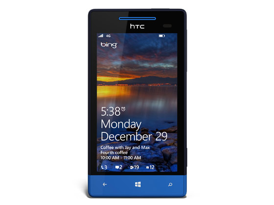 Tela de bloqueio do Windows Phone