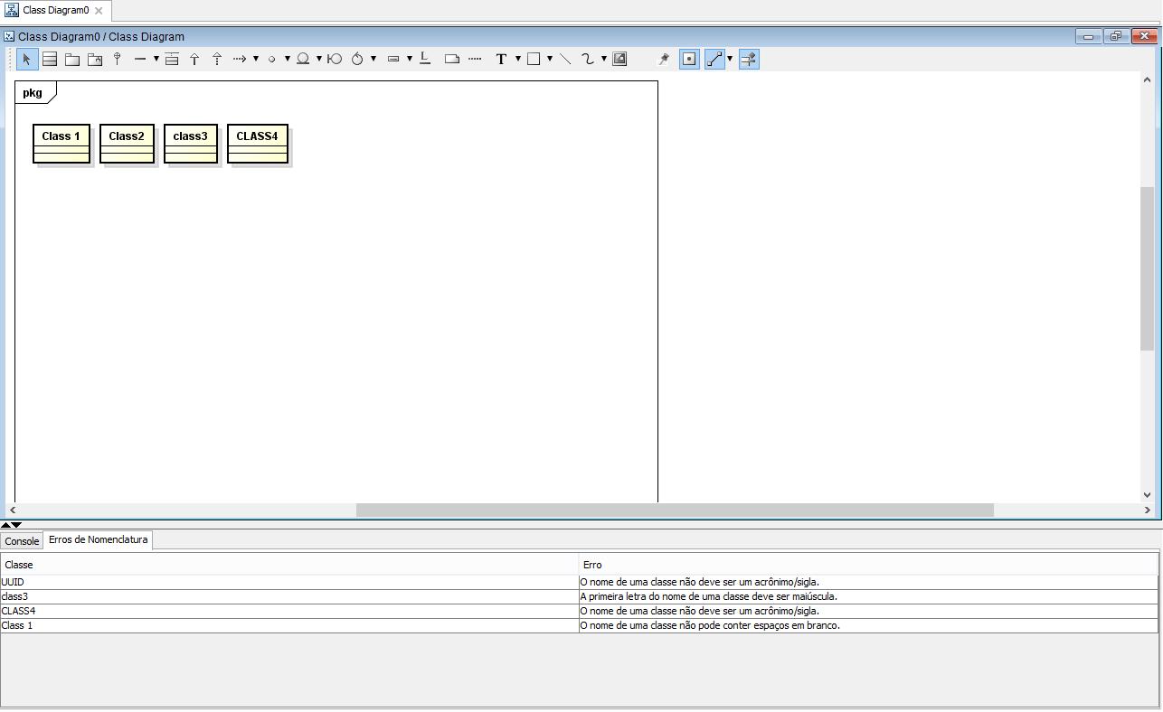 Interface gráfica da versão final plug-in Validator