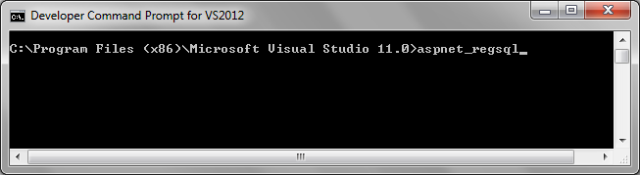 Prompt de comando do Visual Studio 2012