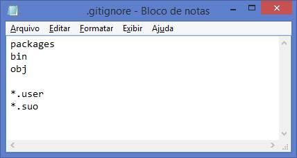 Conteúdo do arquivo .gitignore no repositório TesteGitHubWindows