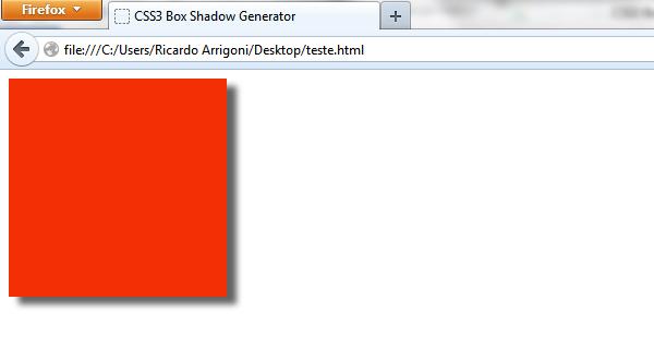 Elemento com sombra em CSS3