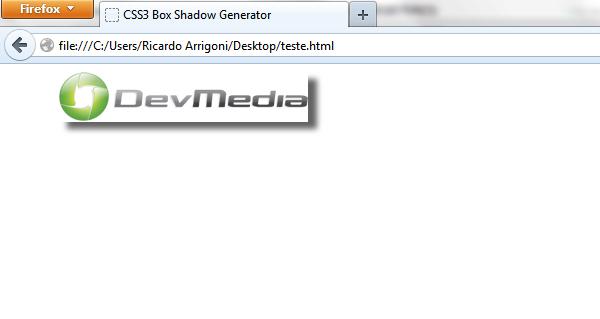 Aplicando sombras em Imagens