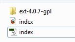 Arquivos necessários para uso do ExtJS