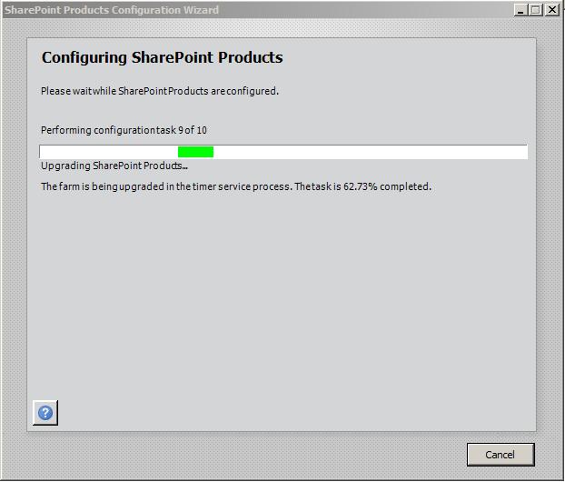 Executando o SharePoint 2010 Products Configuration