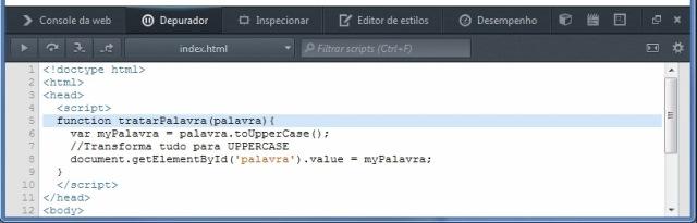 Console de Depuração do Firefox 21.0