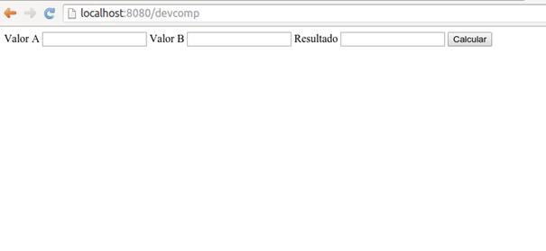 Componente em uso em uma página