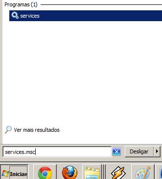 Comando para acessar os serviços do Windows
