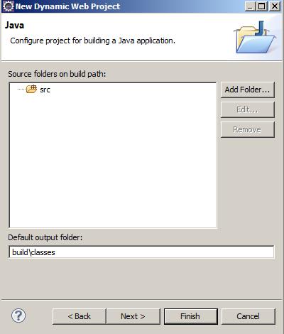 Local onde os códigos Java irão ficar, por padrão não é alterado, clique em Next