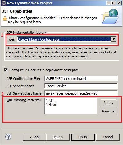 Configurações de bibliotecas