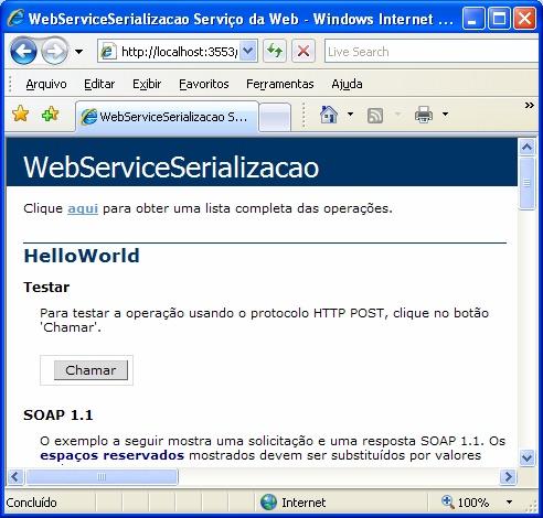 Método HelloWorld