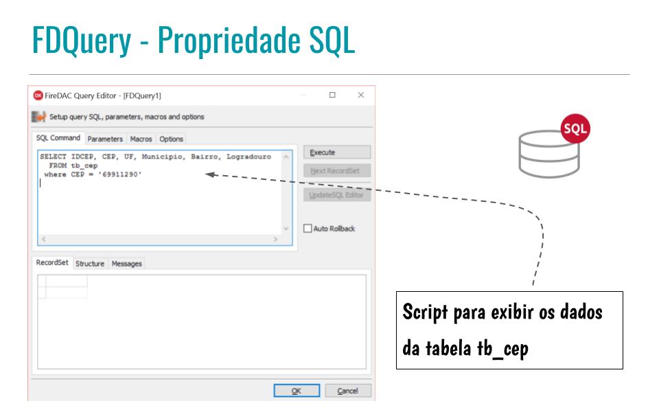 FDQuery - Propriedade SQL