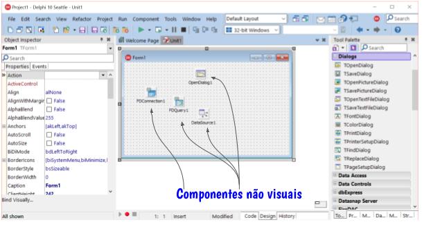Exemplos de componentes não visuais