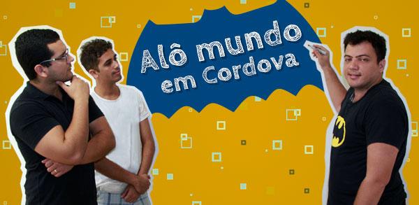Alô mundo em Cordova