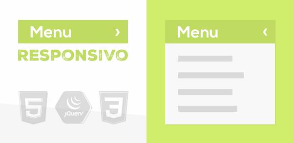 Menu responsivo com HTML, CSS e jQuery
