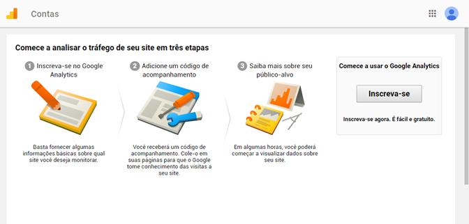 Começando a usar o Google Analytics