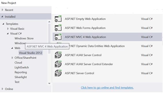 Criando um projeto ASP.NET MVC 4