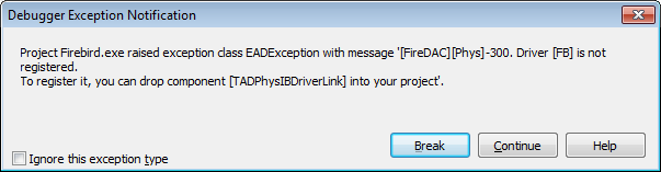 Exception do FireDAC
