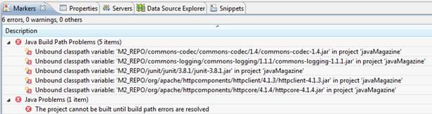 Erros de compilação no Eclipse